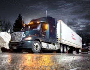tractor trailer hauling cargo